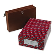 """Smead Partition Wallet, 6 Pockets, 5-1/4"""" Expansion, Flap and Cord Closure, Legal Size, Redrope Stock, 10 per Box (72475)"""