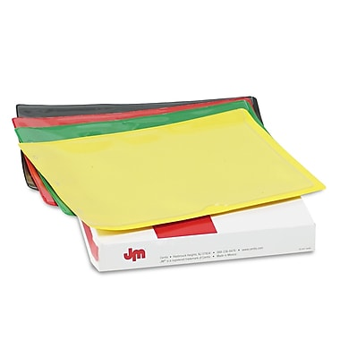 Pendaflex® Letter Straight Cut File Jacket, Black, Blue, Green, Red and Yellow, 25/Pack