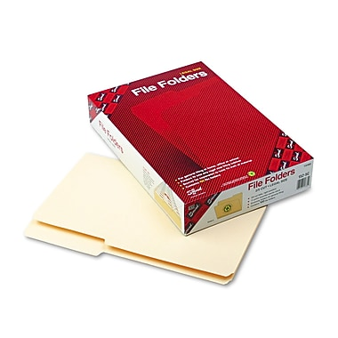 Smead® File Folders, 2/5-Cut Tab Right Position, Legal Size, Manila, 100 per Box (15385)