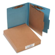 "Acco® Letter 1 Divider Recycled Classification Folder w/2"" Expansion, Blue, 10/Pack"