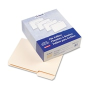 "Pendaflex® Letter 1/3 Cut File Folder w/ 3/4"" Expansion, Manila, 100/Pack"