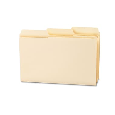 Smead® SuperTab® File Folder, Oversized Reinforced 1/3-Cut Tab, Guide Height, Legal Size, Manila, 100 Per Box (15395)