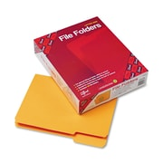 Smead®  File Folder, 1/3-Cut Tab, Letter Size, Goldenrod, 100 per Box (12243)
