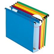 "Pendaflex® SureHook® Extra Capacity Reinforced Hanging File Folders, 2"", 5 Tab, Letter Size, Assorted , 20/Box"