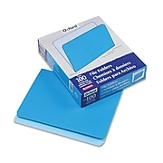 Esselte® Letter Straight Cut Recycled File Folder, Blue, 100/Pack