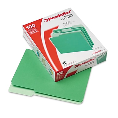 Pendaflex® Letter Recycled 1/3 Cut File Folder w/ 3/4