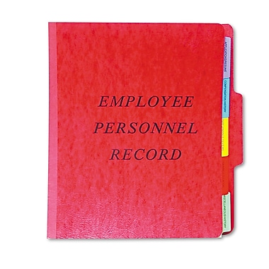 Pendaflex® Employee Personnel Folders, 1/3-Cut Top Tab, 5 Dividers, Each (SER-1-ER)