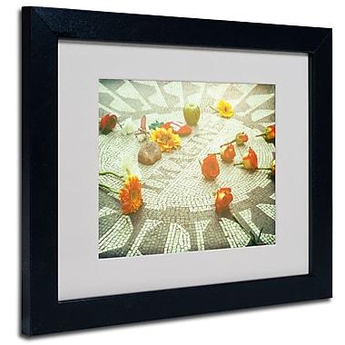 Trademark Fine Art Ariane Moshayedi 'Imagine Blue' Matted Art Black Frame 11x14 Inches