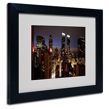 Trademark Fine Art Ariane Moshayedi 'City Lights' Matted Art Black Frame 11x14 Inches