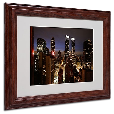 Ariane Moshayedi 'City Lights' Matted Framed Art - 11x14 Inches - Wood Frame