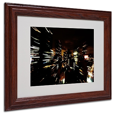 Ariane Moshayedi 'City Lightshow' Matted Framed Art - 11x14 Inches - Wood Frame