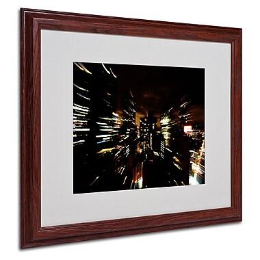 Ariane Moshayedi 'City Lightshow' Matted Framed Art - 16x20 Inches - Wood Frame