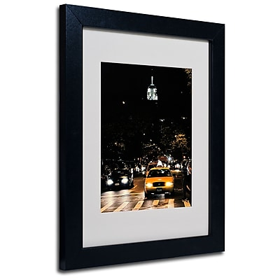 Trademark Fine Art Ariane Moshayedi 'Empire State of Mind' Matted Art Black Frame 11x14 Inches