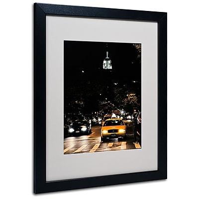 Trademark Fine Art Ariane Moshayedi 'Empire State of Mind' Matted Art Black Frame 16x20 Inches