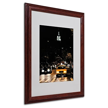 Ariane Moshayedi 'Empire State of Mind' Framed Matted Art - 16x20 Inches - Wood Frame
