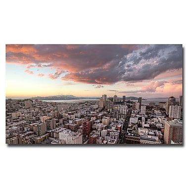 Trademark Fine Art Ariane Moshayedi 'SF High Rise' Canvas Art 18x32 Inches
