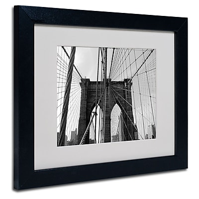 Trademark Fine Art Ariane Moshayedi 'Wired' Matted Art Black Frame 11x14 Inches