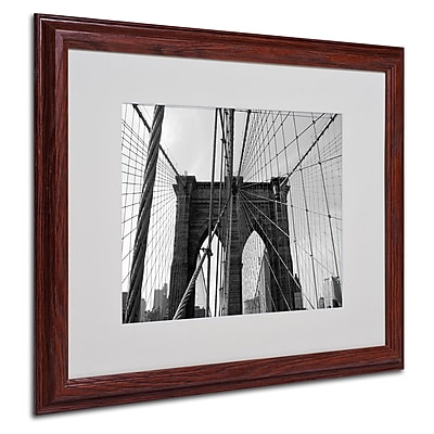 Ariane Moshayedi 'Wired' Matted Framed Art - 16x20 Inches - Wood Frame