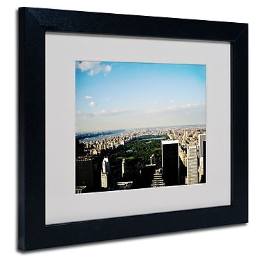 Trademark Fine Art Ariane Moshayedi 'NYC Skies' Matted Art Black Frame 11x14 Inches