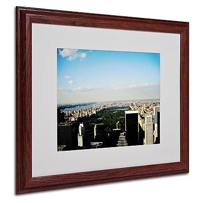 Ariane Moshayedi 'NYC Skies' Matted Framed Art - 16x20 Inches - Wood Frame