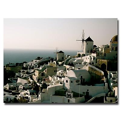 Trademark Fine Art Ariane Moshayedi 'Santorini Dusk' Canvas Art 24x32 Inches
