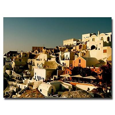 Trademark Fine Art Ariane Moshayedi 'Santorini Sunset' Canvas Art 24x32 Inches