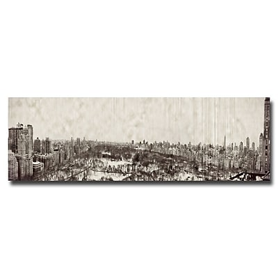 Trademark Fine Art Ariane Moshayedi 'Vintage NY Panorama' Canvas Art 10x32 Inches
