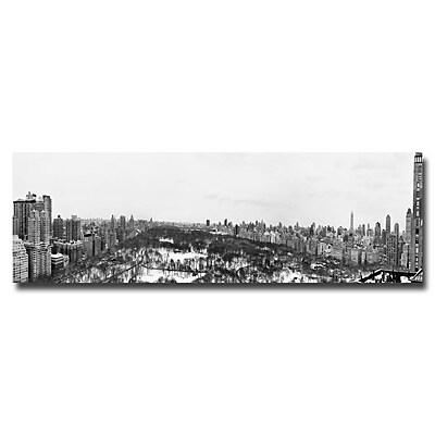 Trademark Fine Art Ariane Moshayedi 'BW NYC Panorama' Canvas Art 10x32 Inches