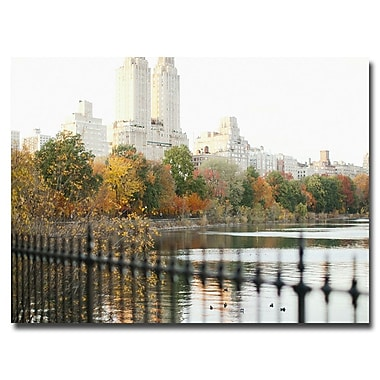 Trademark Fine Art Ariane Moshayedi 'Reservoir Trees' Canvas Art 30x47 Inches
