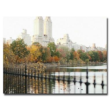 Trademark Fine Art Ariane Moshayedi 'Reservoir Trees' Canvas Art 16x24 Inches