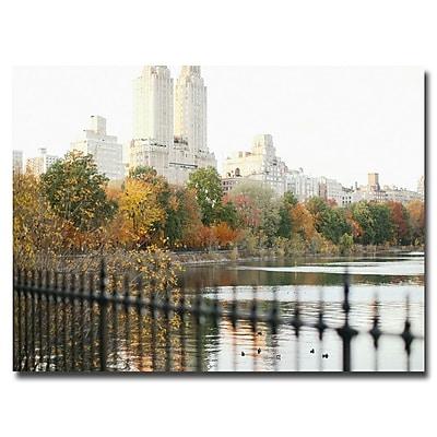 Trademark Fine Art Ariane Moshayedi 'Reservoir Trees' Canvas Art 30x47 Inches