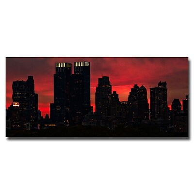 Trademark Fine Art Ariane Moshayedi 'Pink Skyline' Canvas Art 10x24 Inches