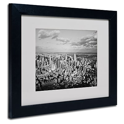 Trademark Fine Art Ariane Moshayedi 'Aerial City' Matted Art Black Frame 11x14 Inches