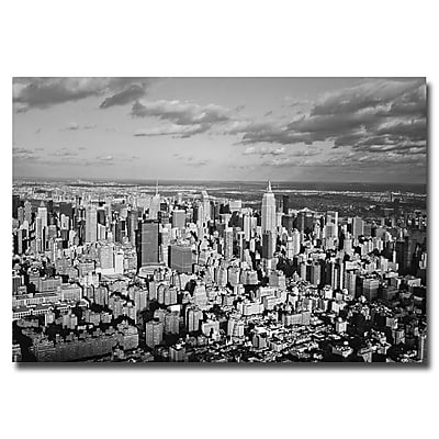 Trademark Fine Art Ariane Moshayedi 'Aerial City' Canvas Art 16x24 Inches