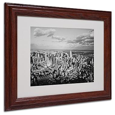 Ariane Moshayedi 'Aerial City' Matted Framed Art - 11x14 Inches - Wood Frame