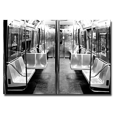 Trademark Fine Art Ariane Moshayedi 'Subway Car' Canvas Art 16x24 Inches