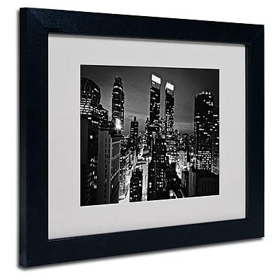 Trademark Fine Art Ariane Moshayedi 'Follow the Lights' Matted Art Black Frame 11x14 Inches