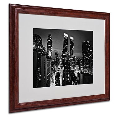 Ariane Moshayedi 'Follow the Lights' Matted Framed Art - 16x20 Inches - Wood Frame