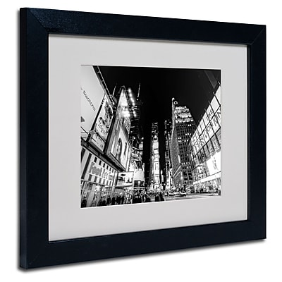 Trademark Fine Art Ariane Moshayedi 'Time Square' Matted Art Black Frame 11x14 Inches