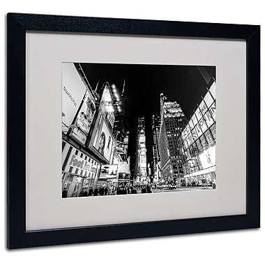 Trademark Fine Art Ariane Moshayedi 'Time Square' Matted Art Black Frame 16x20 Inches