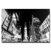 Trademark Fine Art Ariane Moshayedi 'Time Square' Canvas Art 16x24 Inches