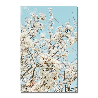 Trademark Fine Art Ariane Moshayedi 'Blue Cherry Blossum' Canvas ArtI 22x32 Inches