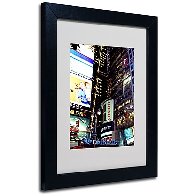 Trademark Fine Art Ariane Moshayedi 'Time Square Lights' Matted Art Black Frame 11x14 Inches