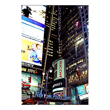 Trademark Fine Art Ariane Moshayedi 'Time Square Lights' Canvas Art 16x24 Inches