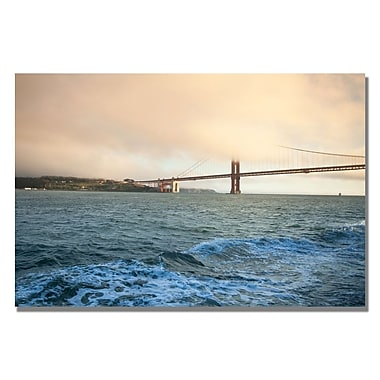 Trademark Fine Art Ariane Moshayedi 'Bridge Seascape' Canvas Art 35x47 Inches