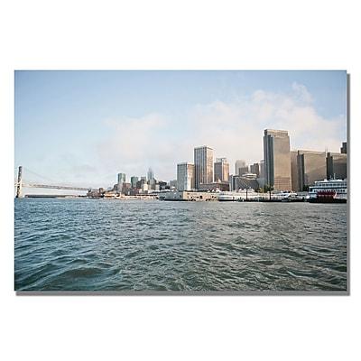 Trademark Fine Art Ariane Moshayedi 'City on the Water' Canvas Art 16x24 Inches