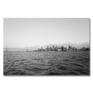 Trademark Fine Art Ariane Moshayedi 'City on the Water IV' Canvas Art 16x24 Inches