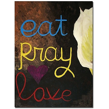 Trademark Fine Art Amanda Rea 'Eat Pray Love I' Canvas Art