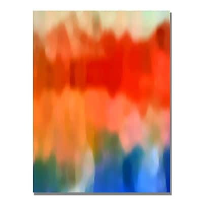 Trademark Fine Art Amy Vangsgard 'Abstract Watercolor IV' Canvas Art 30x47 Inches