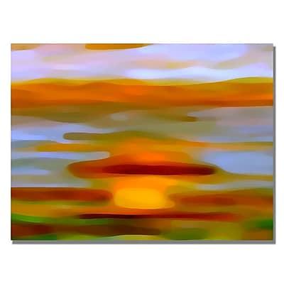 Trademark Fine Art Amy Vangsgard 'Colorful Reflections Horizontal' Canvas Art 18x24 Inches